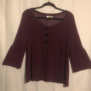 NWOT purple Josephine essentials sweater